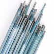 Stock Photo: Blue electrodes closeup