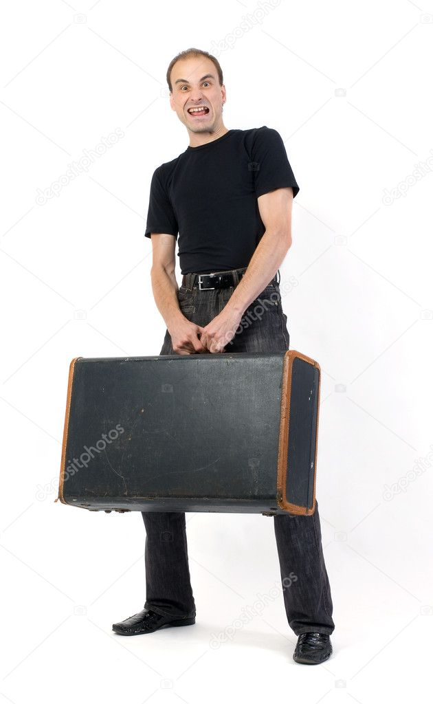 Man with baggage — Stock Photo #1139563
