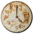 Stock Photo: Old rusty Clock Face