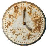 Viejo cara de reloj oxidado — Foto de Stock