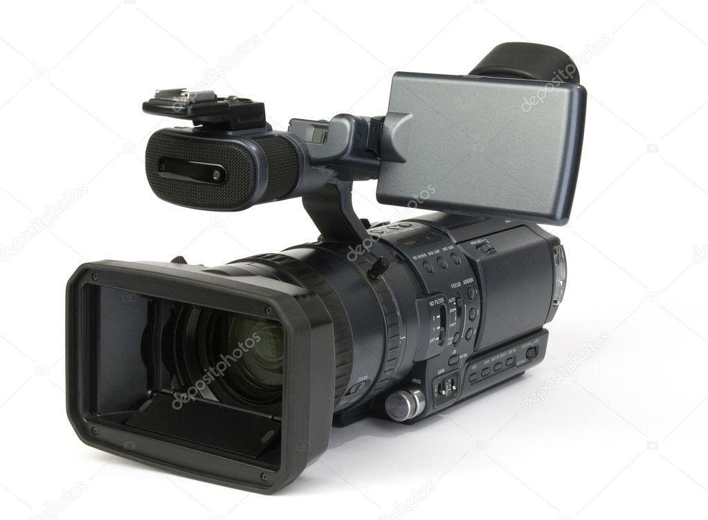 Professional digital video camera — Stock Photo © spaxiax ...