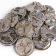 Stock Photo: Pile of clocks