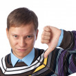 Royalty-Free Stock Photo: Young man with thumbs down