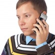 Man calling on mobile phone — Stock Photo