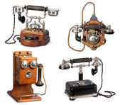 Collection of retro telephones — Stock Photo