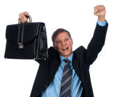 Happy young businessman — Stock Photo