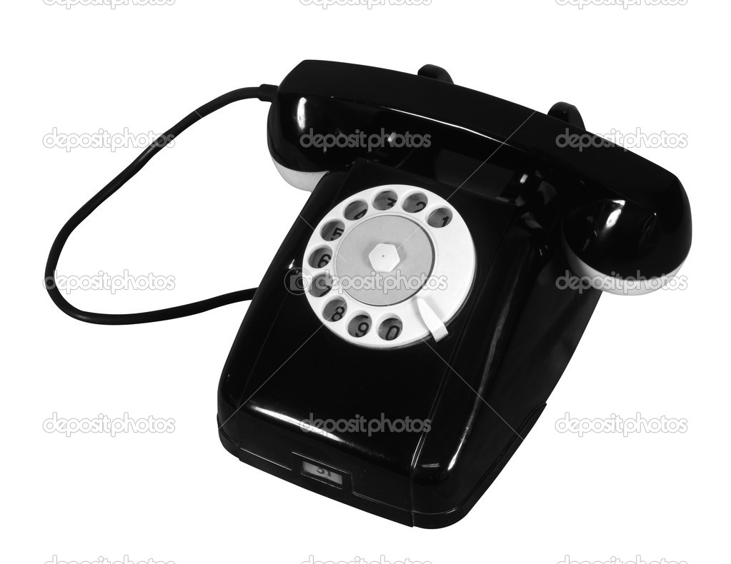 Old Phone (with cliping path) — Stock Photo #1532989