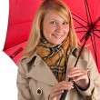 Beautiful Woman with umbrella — Stock Photo #1553458