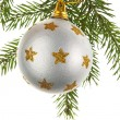 Christmas decoration on a fir-tree — Foto Stock
