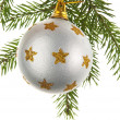 Christmas decoration on a fir-tree -  