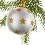Christmas decoration on a fir-tree — Stock Photo