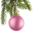 Стоковое фото: Christmas decoration on a fir-tree