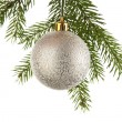 Christmas decoration on a fir-tree — Stockfoto