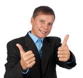 Successful smiling businessman — Stock Photo