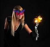 Beautiful magician — Stock Photo