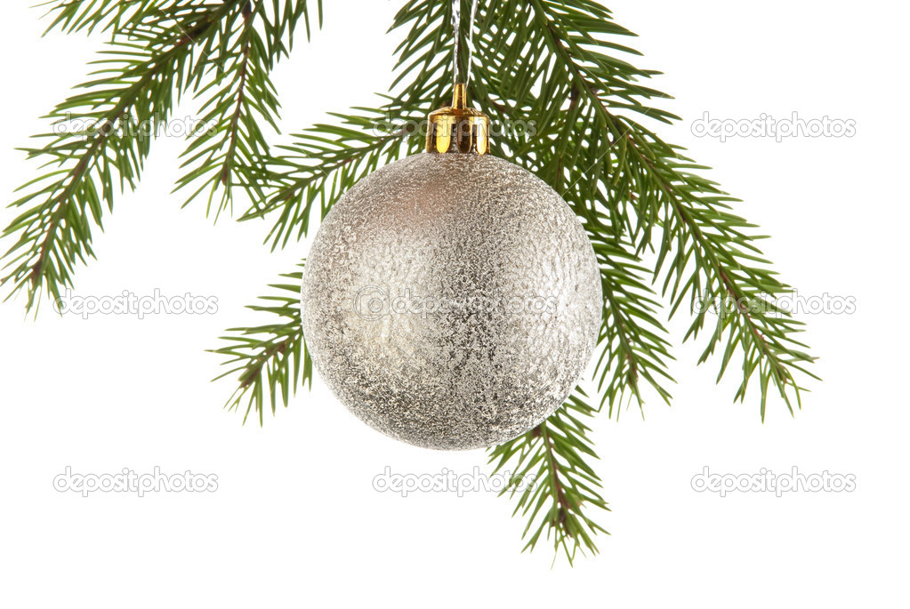 Christmas decoration on a fir-tree — Stock Photo #1554209