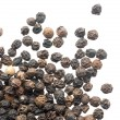 Close up of black peppercorns — 图库照片