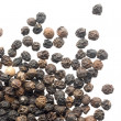Close up of black peppercorns — Stockfoto