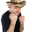 Funny man ready to fight — Stock Photo #1562428