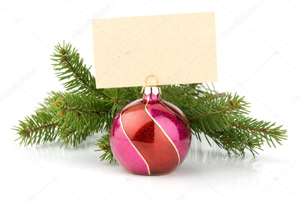 Christmas ball isolated on the white background. With place for your text — Stock Photo #1562442