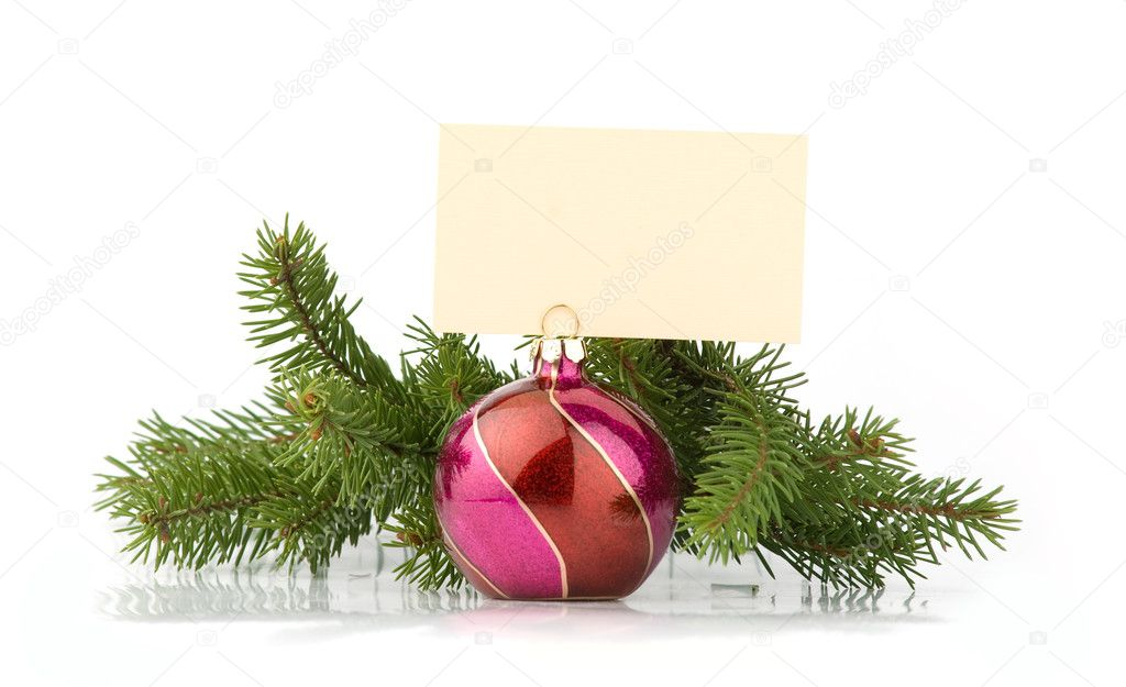 Christmas decoration with place for your text. isolated on the white background — Stock Photo #1562460