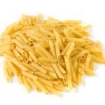 pasta på den vita bakgrunden — Stockfoto