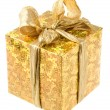 Gift box close up — Stock Photo