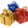 Three gift boxes — Stock Photo