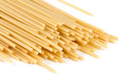 Uncooked italian spaghetti closeup — Stock Photo