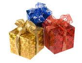 Three gift boxes — Stock Photo