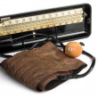Retro sphygmomanometer - Stock Photo