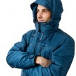 Young handsome man in winter clothes — Stock Photo