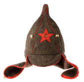 "Soviet army cap ""Budyonnovka"" — Stock Photo"