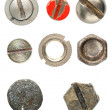 Stock Photo: Various screws head