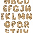 Stock Photo: Grunge alphabet