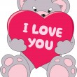 Royalty-Free Stock Vector Image: Teddy bear with love