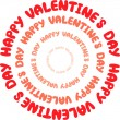 Happy Valentine's day - Stockvectorbeeld