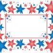 Stock Vector: Frame of patriotic vector stars