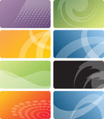 Set of colorful business cards — Stok Vektör