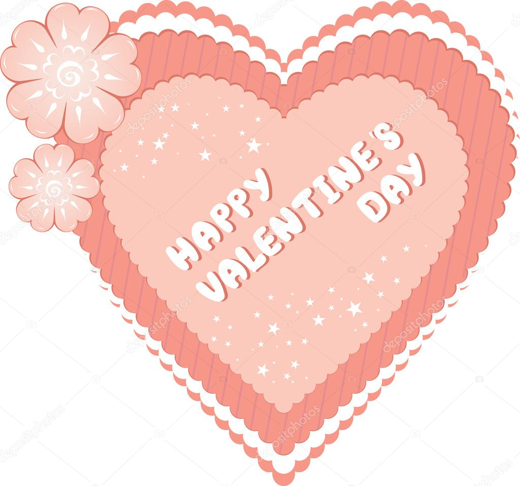 Romantic valentine's day. Vector illustration — Stock Vector #1881082
