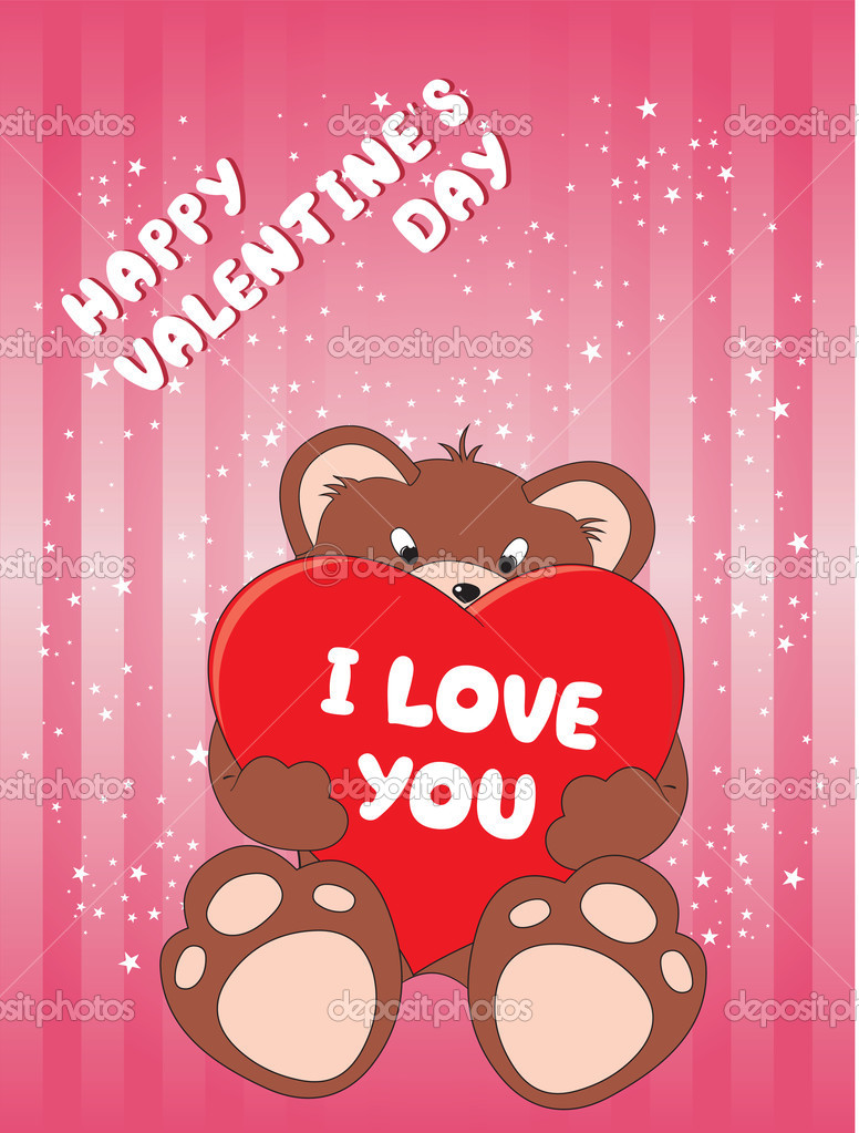 Valentine's day greeting card — Stok Vektör #1881085