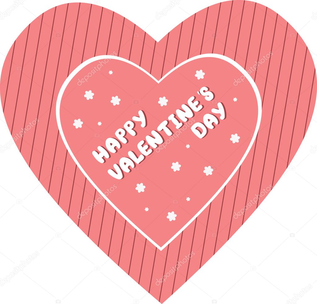 Valentine's Day card. Vector illustration — Stock Vector #1881090