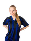 Young woman clothed in uniform — Stock Photo
