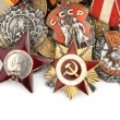 World War II Russian military medals — Stock Photo