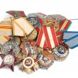 World War II Russian medals - Stock Photo