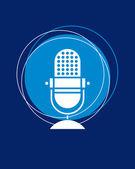 Retro microphone — Stock Vector
