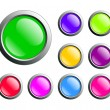 Buttons web — Stock Vector