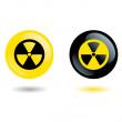 Sign radiation — Stock Vector