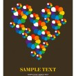 Royalty-Free Stock Imagen vectorial: Greeting card flower heart