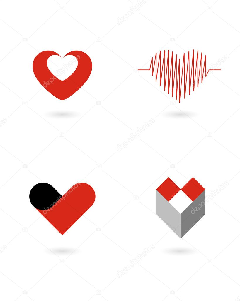 Vector hearts 1 — Stock Vector #1194254